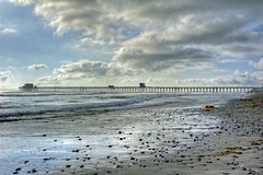 Seaweed And Stones with Cloudeage.. (rod1691) Tags: sunset beach clouds pier surf oceanside lowtide hdr hee cloudage oceaside