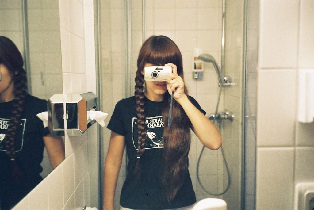 Melena in the mirror