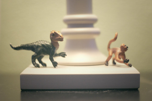 the monkey and the dino