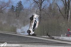 Nose dive? (eGarage.com) Tags: seattle cross crash rally wreck global espn nosedive 2011 carjump egarage jumpingcar dirtfish dirtfishrallyschool egaragecom globalrallycross