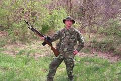 100_4315 (cowboy chris bbq) Tags: cute sexy hat usmc model marine gun photoshoot calendar boots modeling military rifle models columbia camo mo cap cover missouri blonde posters casual camoflage m14 booniehat cowboychrisbbq