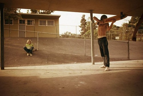 Hugh Holland, Skate Shooter, Kenter Canyon, 1976