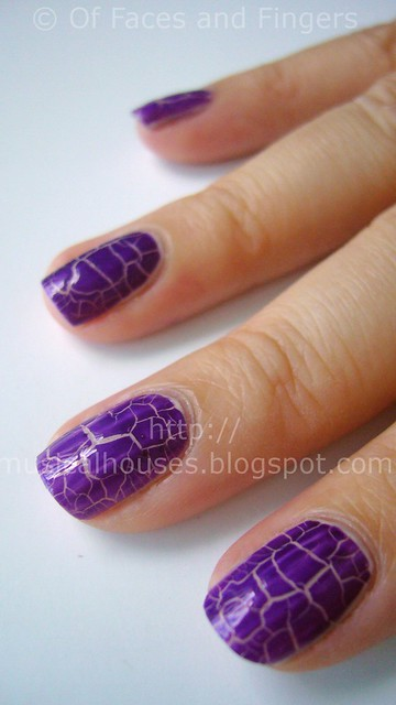 kelier purple shatter nail polish 3