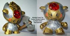 Custom Vinyl Toy Foomi Robot - Kidrobot (Howie Green) Tags: green art toy vinyl pop kidrobot custom dunny howie foomi