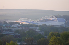 Falmer Stadium (Dominic's pics) Tags: uk club downs sussex design chalk football community brighton soft university arch stadium hove soccer south hill curves group east hills american express architects saddle gentle pringle albion bhafc the amex kss falmer theamex
