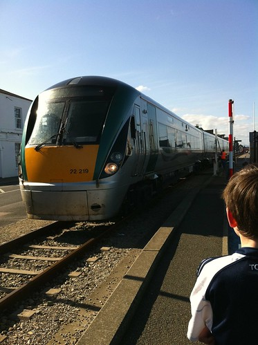 Rosslare bound train on Wexford Quay by despod