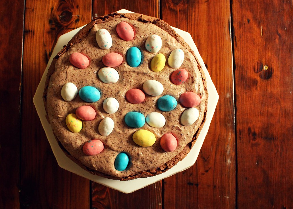 easter egg nest cake