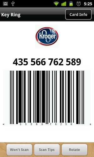 kroger barcode - android