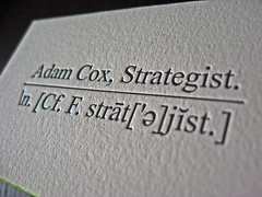 Adam Cox Letterpress Cards