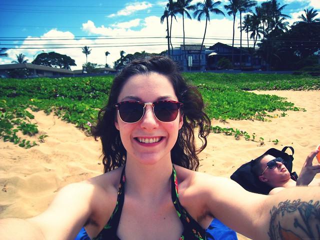 beach w/ bro.