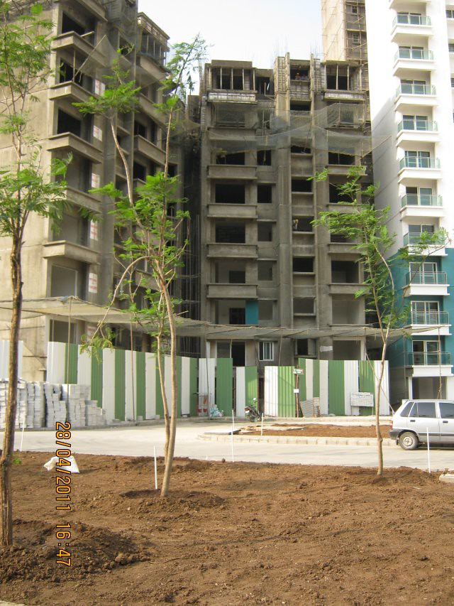 Under-construction A Tower in  Sangria at Megapolis Hinjewadi Phase 3, Pune