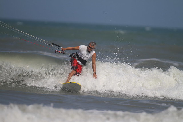 Cocoa Beach kite surfer with 500mm