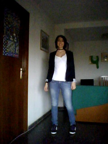 Jeans + blazer (calidad bastarda)