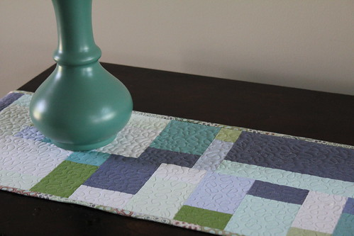 Plain Spoken Scrap Table Runner 1