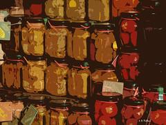jars (Keith.Fulton) Tags: italy photoshop florence tomatoes canned firenza jars stylized krfultonphotography