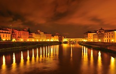 Firenze at Night (Catch The Jiffy) Tags: old bridge italy night river florence ponte firenze arno vecchio