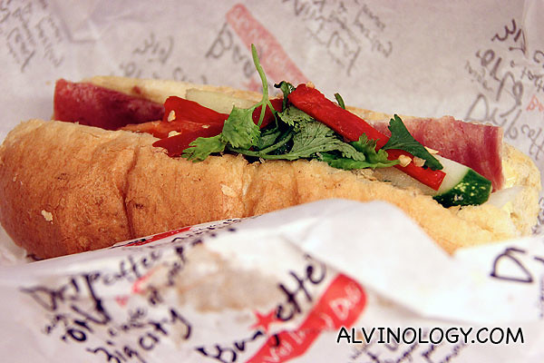 Their signature Saigon Baguette