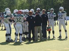 Teambesprechung American Football