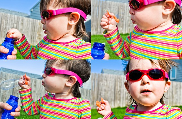 bubble blowing collage