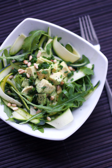 Courgettes, Avocado and Rocket
