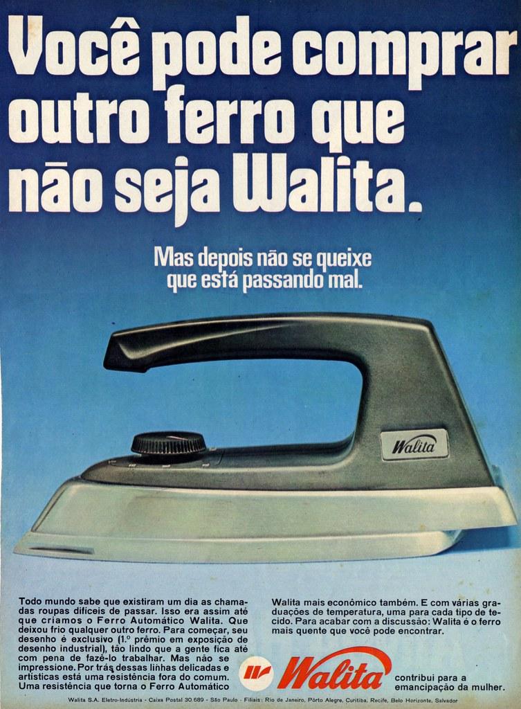 60's Advertisement - Walita electric iron