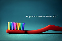 Rainbow Tooth Brush 56/99 (KittyBitty: Manicured Photos) Tags: red photoshop rainbow colours kitty australia melbourne brush toothbrush bristles colouful bitty manicured kittybitty1 kittybitty manicuredphotos