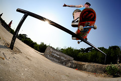 Jake Watt - FS Feeble (Cherryrig) Tags: nikon jake skateboarding shots wizard flash fisheye skate pocket fx farnborough watt quantum t2 pw aldershot feeble sb800 sb26 sb25 pocketwizard 16mmf28fisheye qflash d700 cherryrig