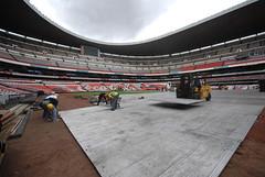 Segundo día de montaje - Estadio Azteca 10
