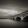 MacArthur Bridge (Jeff Gaydash) Tags: longexposure bridge blackandwhite square detroit belleisle macarthur