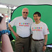 President Loh and Dean Harris green screen