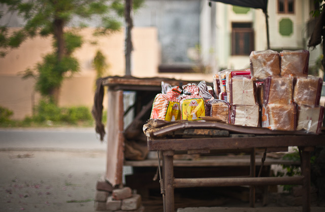 Fresh breads selling by the street
