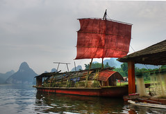 Chinese Pirates (Stuck in Customs) Tags: china travel water digital river photography liriver boat blog high fishing dock october asia ship republic dynamic stuck pirates traditional east photoblog software processing sail imaging mast prc  range hdr lijiang tutorial trey travelblog zhuang customs 2010 guangxi  reaver ratcliff reavers hdrtutorial stuckincustoms treyratcliff guangxizhuang  ljing photographyblog peoplesrepublicofchina stuckincustomscom  zhungz nikond3s boucue