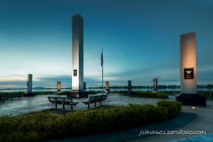 Regional Veterans Memorial, Kennewick, WA (johny~) Tags: county blue sky monument canon river army coast washington memorial force dusk air columns guard navy columbia ohsnap granite marines hdr veterans 30d kennewick 1365 benton totallyrad photomatix efs1022mmf3545usm superfunhappy johny~