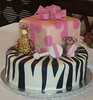 Safari Cake for Baby Shower (theseattleokie) Tags: cake monkey safari figure zebra present giraffe figurine fondant gumpaste theseattleokie kimberlyscustomcakes