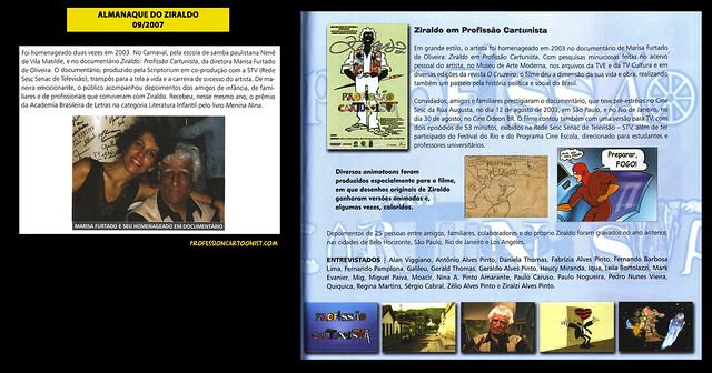 """""""Ziraldo em Profissão Cartunista"""" - Almanaque do Ziraldo - setembro/2007"""