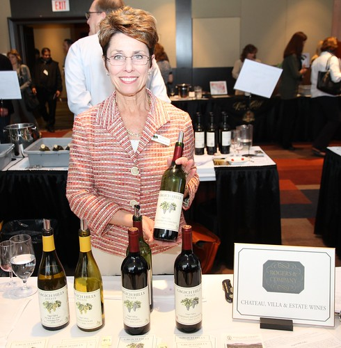 Maryanne Wedner, of Grgich Hills Estates, was one of many representatives showcasing their vintages at the California Wine Fair in Ottawa.