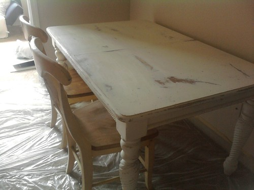 Furniture sanded before refurbishing