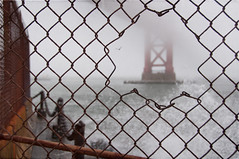 Happy Fence Friday: {Hole in the Fence} Edition! (pixelmama) Tags: california fog goldengatebridge fortpoint gettyimages sanfranciscocalifornia hff holeinthefence fencefriday pixelmama