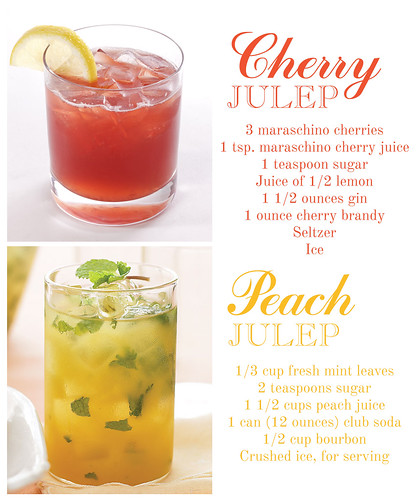 Cherry and Peach Juleps