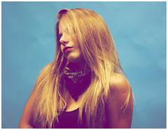 isis (Pez de Aguadulce) Tags: color girl yellow rock studio longhair cyan blonde rubia