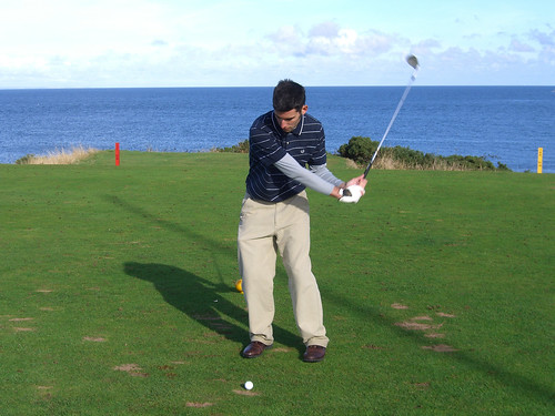 Jacob at Balcomie Links