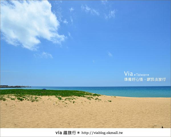 【澎湖沙灘】山水沙灘,遇到菊島的夢幻海灘!10