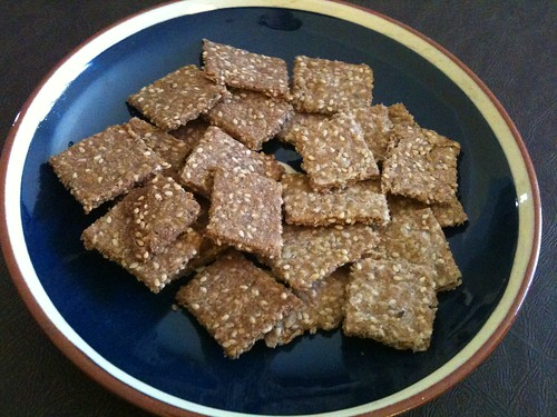 Whole Grain Sesame Crackers-Sweet and Savory