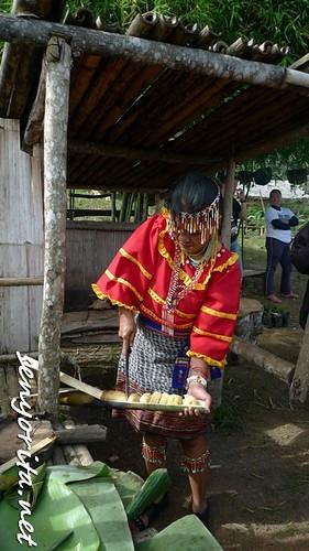 Cassava Cake in a Bamboo