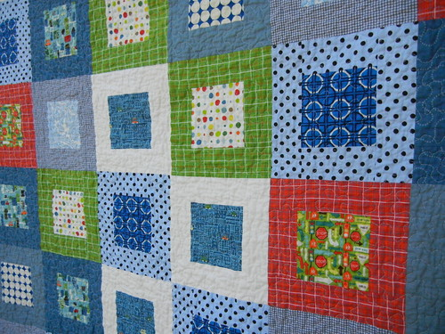 The Beep Beep twin quilts - James's quilt front