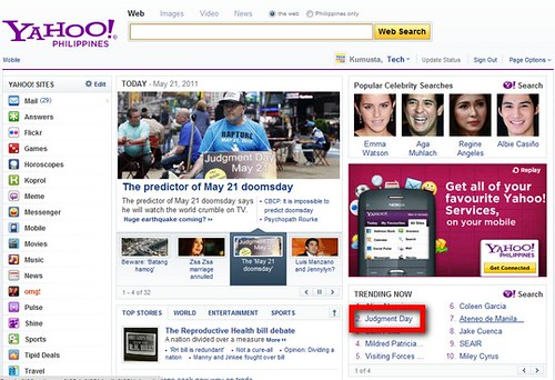 may 21 judgement day yahoo. May 21, 2011 Judgment Day: A