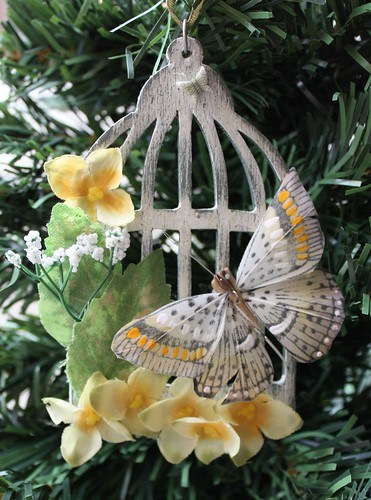 Vintage Butterfly Cage