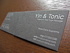Yin & Tonic Letterpress Cards