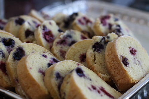 Blueberry-Raspberry Pound Cake