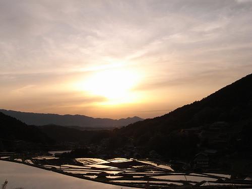 飛鳥の夕日(細川の棚田)-02